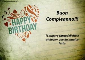 Cartolina happy birthday