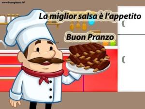disegno di uno chef con in mano un piatto di costolette