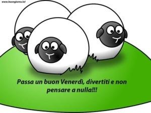 disegno di tre pecore su un prato